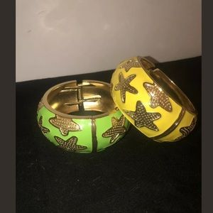 Accessories - Green & Yellow Bracelet Bangles Gold Starfish